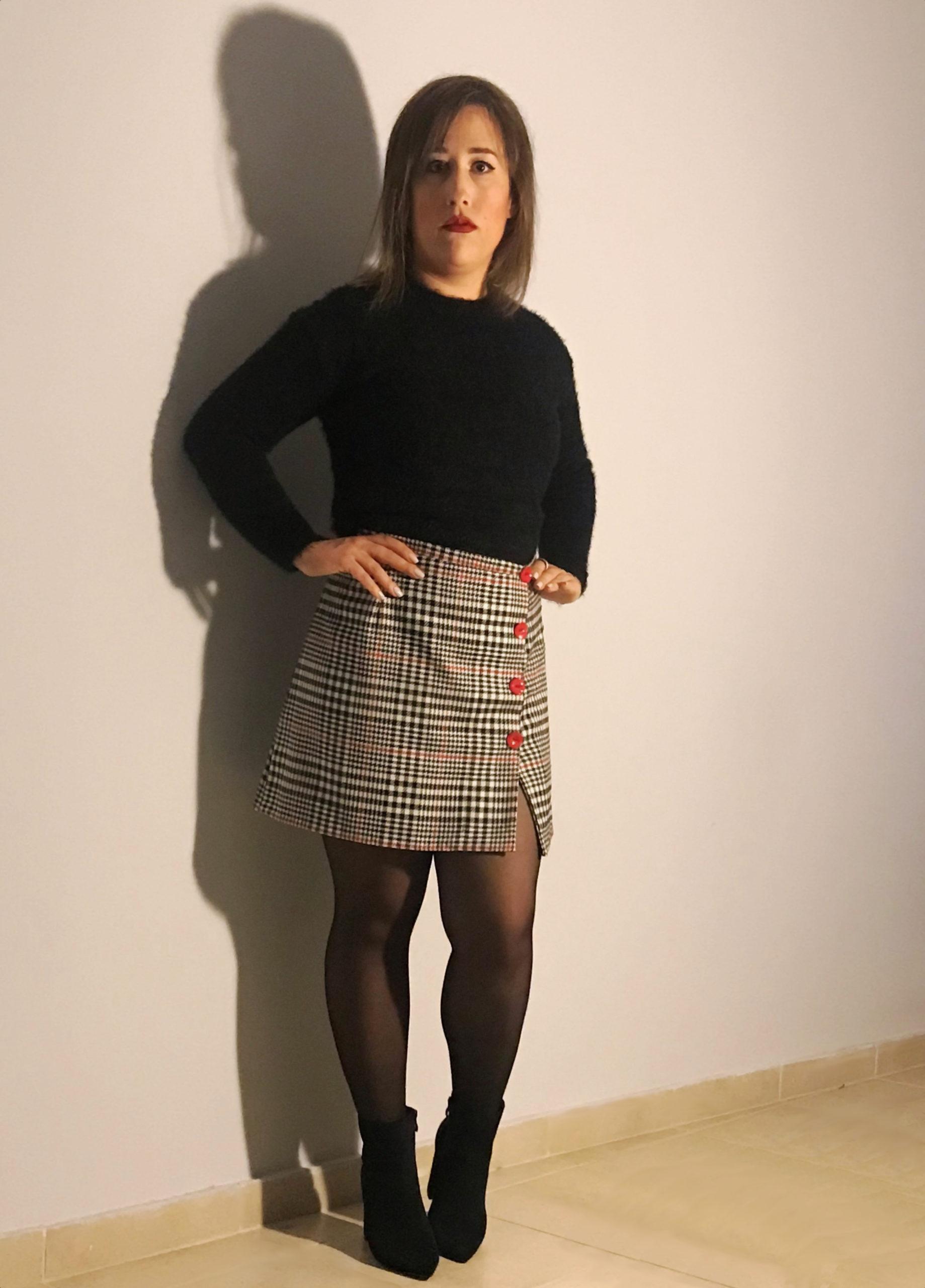 Χειροποίητη καρό φούστα